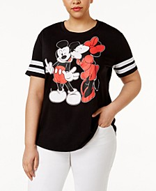 Trendy Plus Size Mickey and Minnie Mouse Graphic T-Shirt