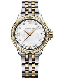 Women's Tango Swiss Diamond-Accent Two-Tone Stainless Steel Bracelet Watch 30mm 5960-SPS-00995