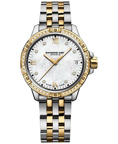 RAYMOND WEIL Women's Tango Swiss Diamond-Accent Two-Tone Stainless Steel Bracelet Watch 30mm 5960-SPS-00995
