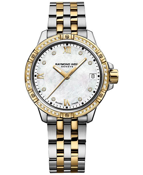 Raymond Weil Women's Tango Swiss Diamond-Accent Two-Tone Stainless Steel Bracelet Watch 30mm 5960-SPS-00995