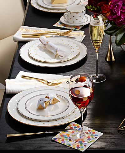 SHOP THE LOOK: kate spade new york Larabee Road Gold Tablescape & Accessories