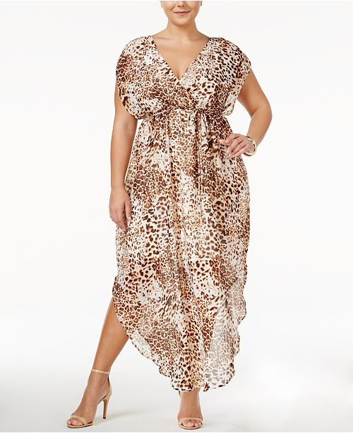 Love Squared Trendy Plus Size Animal-Print Maxi Dress