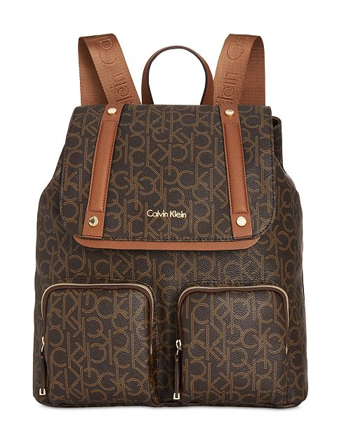 f0bf331741e Calvin Klein Hudson Cargo Signature Backpack & Reviews - Handbags ...