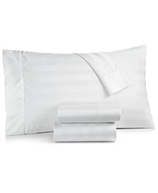 "1.5"" Stripe Twin XL 3-Pc Sheet Set, 550 Thread Count 100% Supima Cotton, Created for Macy's"