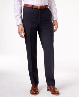 Navy Plaid Ultraflex Dress Pants
