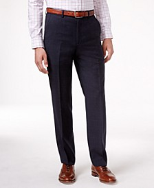 Navy Plaid Ultraflex Dress Pants