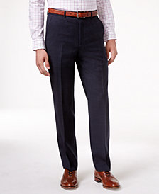 Lauren Ralph Lauren Navy Plaid Ultraflex Dress Pants
