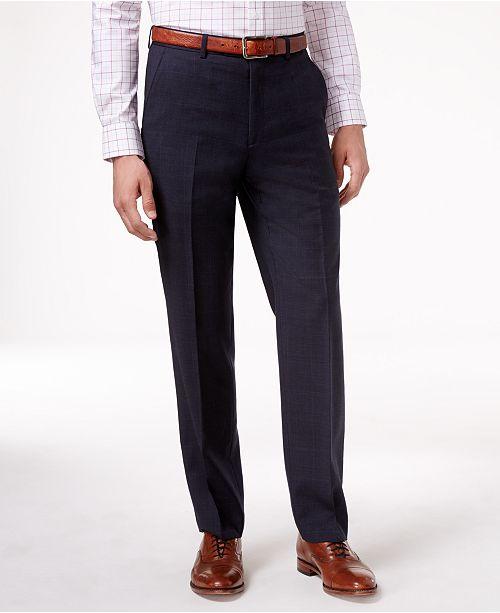 Lauren Ralph Lauren Navy Plaid Ultraflex Dress Pants