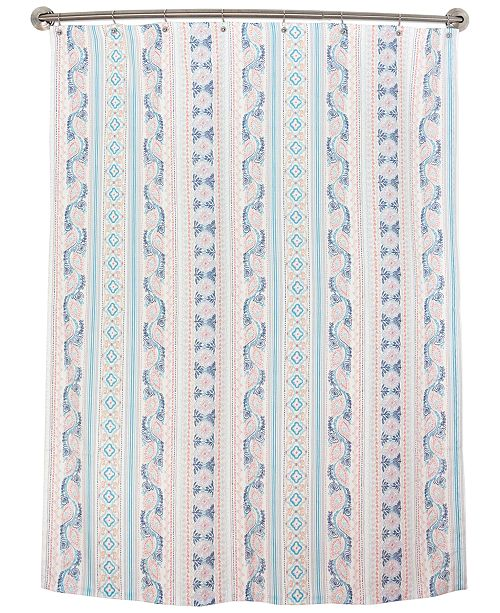 Bardwil Dena Lily Stripe Shower Curtain