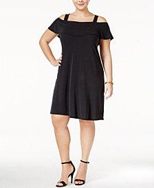 Monteau Trendy Plus Size Off-The-Shoulder Dress