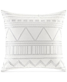 """INK+IVY Ava Embroidered 20"""" Square Decorative Pillow"""
