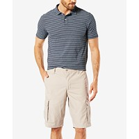 Deals on Dockers Mens Classic Fit 10.5-inch Washed Cargo Shorts D4