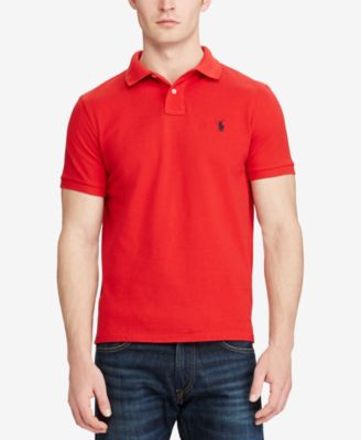 Ralph Lauren Men Slim-Fit American Big Polo Orange Short Sleeved