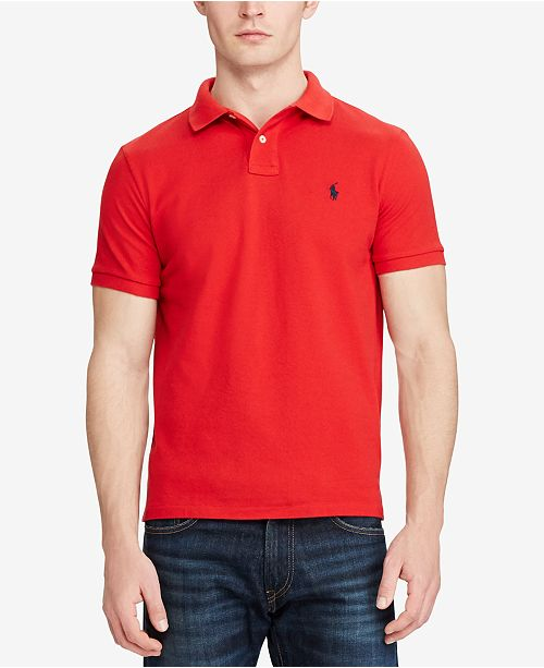 bd8724ecfd4ea Polo Ralph Lauren Men s Custom Slim-Fit Mesh Polo Shirt - Polos ...