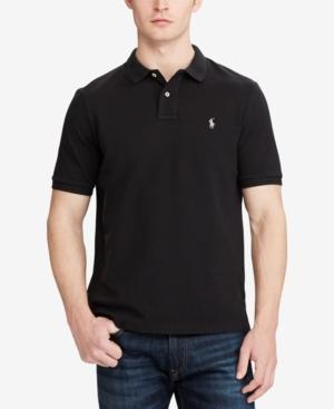 Polo Ralph Lauren Classic Fit Mesh Polo Shirt In Polo Black