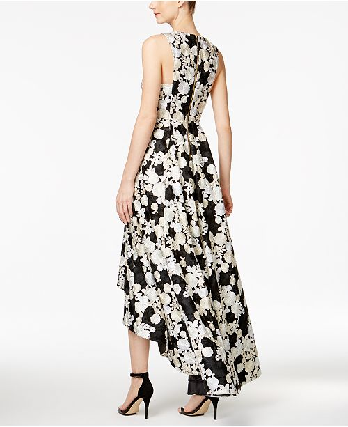 a4d72326e500 Calvin Klein Floral-Embroidered High-Low Gown   Reviews - Dresses ...