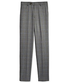 Husky Windowpane Pants, Big Boys