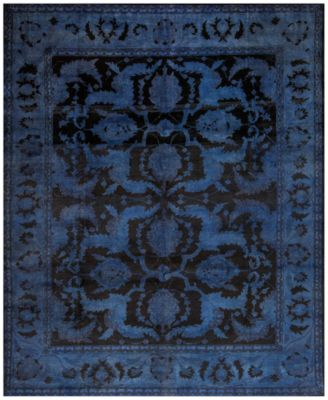 Macyu0027s Fine Rug Gallery One Of A Kind Overdyed Zeigler K570700 Navy 8u0027