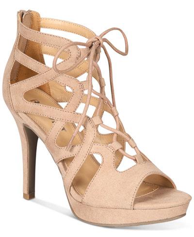 Report Laxy Lace-Up Platform Sandals
