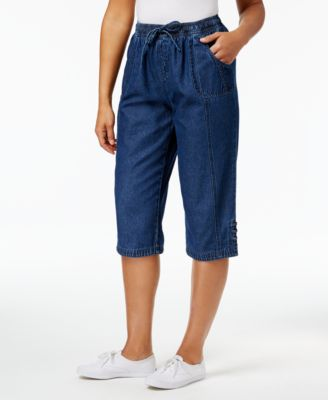 Image of Karen Scott Kiera Cotton Skimmer Shorts, Only at Macy's
