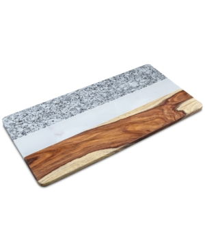 Thirstystone Granite Marble and Wood Rectangular Serving Board