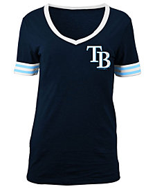 5th & Ocean Women's Tampa Bay Rays Retro V-Neck T-Shirt