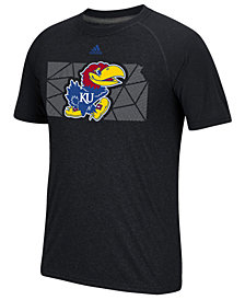 adidas Men's Kansas Jayhawks Geometric Flow T-Shirt