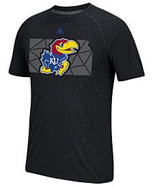 adidas Men's Kansas Jayhawks Geometric Flow T-Shirt