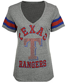 G-III Sports Women's Texas Rangers Triple Play T-Shirt