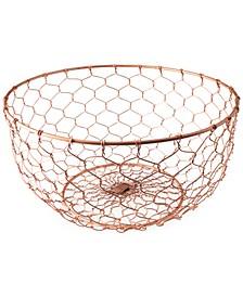 Copper-Finish Wire Bowl
