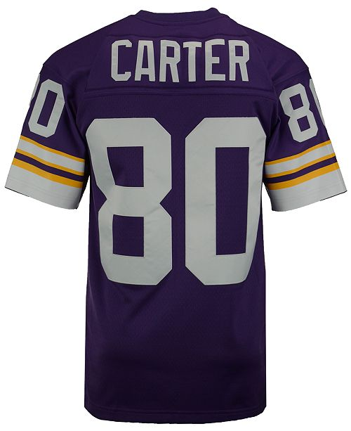 cheap for discount a78f5 60fe2 Men's Cris Carter Minnesota Vikings Replica Throwback Jersey