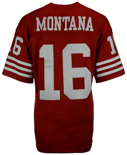 new style 43a1f 657a3 Men's Joe Montana San Francisco 49ers Replica Throwback Jersey