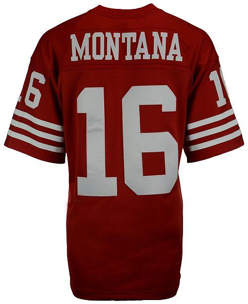 new style 49a36 6cc50 Men's Joe Montana San Francisco 49ers Replica Throwback Jersey