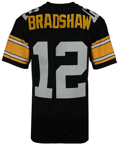 6ac504ca7 ... Mitchell   Ness Men s Terry Bradshaw Pittsburgh Steelers Replica  Throwback Jersey ...