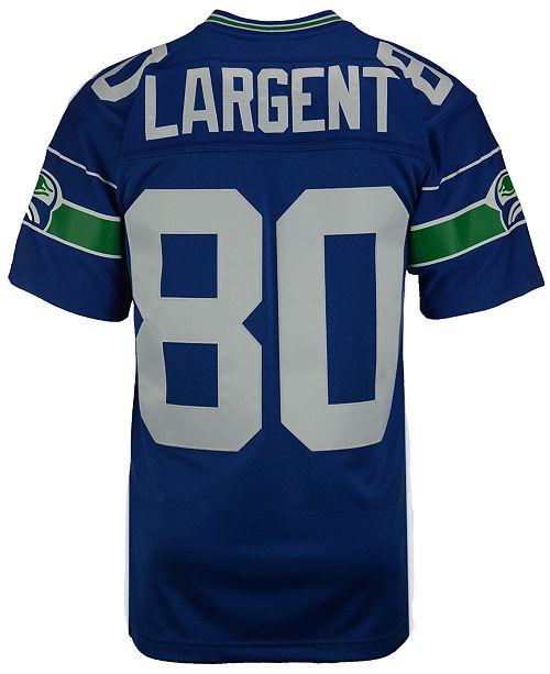 size 40 e811e 7a54f Mitchell & Ness Men's Steve Largent Seattle Seahawks Replica ...