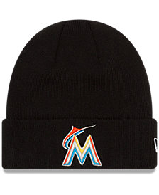 New Era Miami Marlins Basic Cuffed Knit Hat