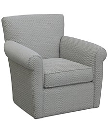CLOSEOUT! Doss II Fabric Swivel Accent Chair