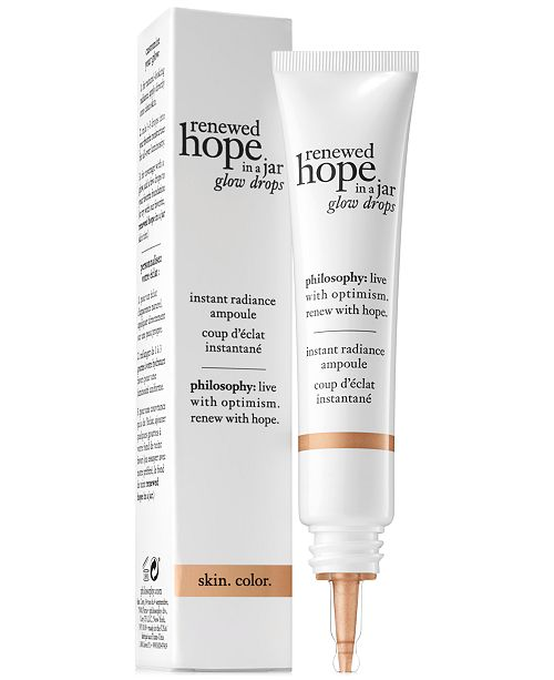 philosophy Renewed Hope In A Jar Glow Drops Instant Radiance Ampoule, 0.5 oz