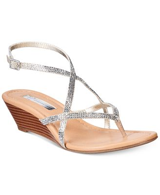 INC International Concepts Women's Mayca2 Strappy Wedge Sandals, Created for Macy's
