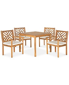 Glendyn Outdoor 5-Pc. Dining Set (1 Dining Table & 4 Chairs)