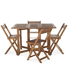 Kinsie Outdoor 5-Pc. Dining Set (1 Dining Table & 4 Chairs)
