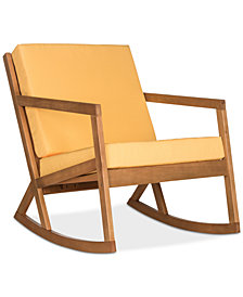 Nicksen Outdoor Rocking Chair, Quick Ship
