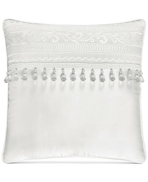 "J Queen New York Bianco 18"" Square Decorative Pillow"