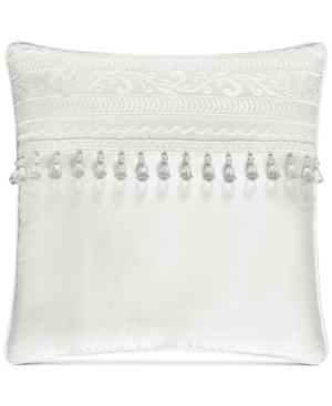 J Queen New York Bianco Embroidered 18 Square Decorative Pilllow Bedding