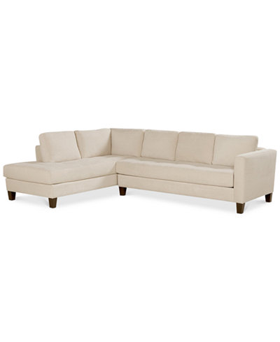 CLOSEOUT! Rylee Fabric 2 Piece Sectional Sofa, Created for Macy's
