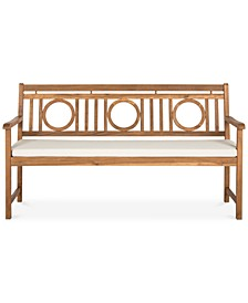 Vallon Outdoor Bench, Quick Ship
