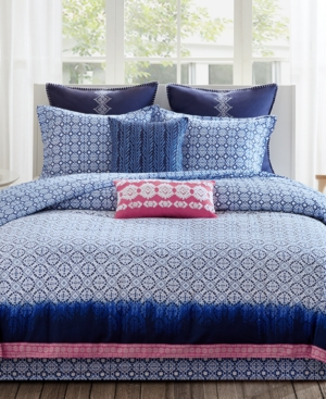 Echo Reversible Shibori California King Comforter Set Bedding