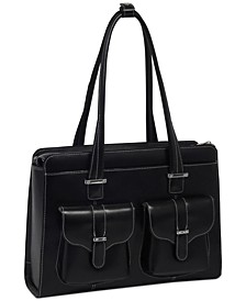 Alexis Leather Laptop Briefcase