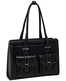 McKlein Alexis Leather Laptop Briefcase
