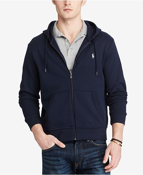 Polo Ralph Lauren Men s Double-Knit Full-Zip Hoodie - Hoodies ... b9d960c5eee6